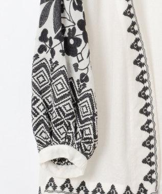 GRACE CONTINENTAL 刺繍チュニックトップ キナリ