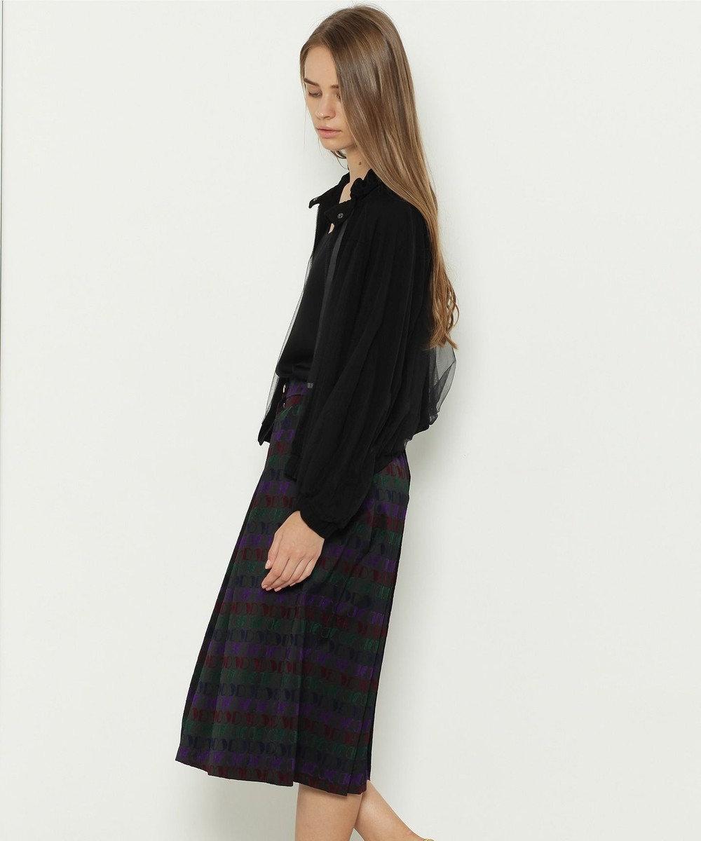 GRACE CONTINENTAL モノグラムジャガードスカート ブラック