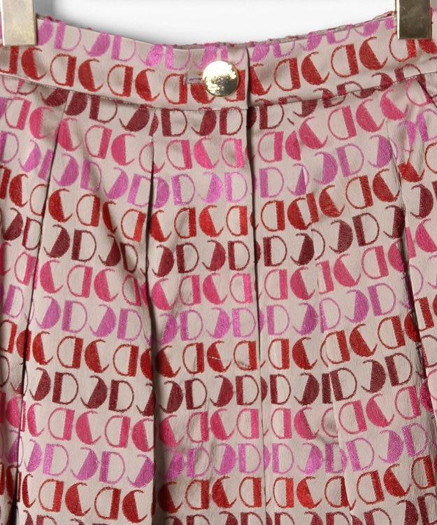 GRACE CONTINENTAL モノグラムジャガードスカート
