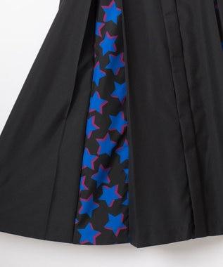 GRACE CONTINENTAL スタープリントシャツワンピース ブラック