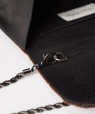 GRACE CONTINENTAL キュービックembバッグ ブラック