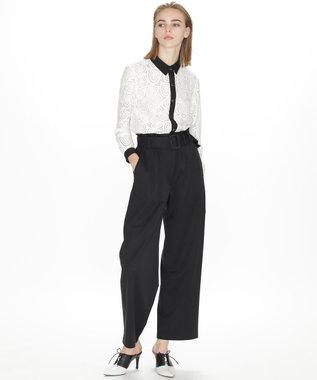 GRACE CONTINENTAL バック刺繍パンツ ブラック
