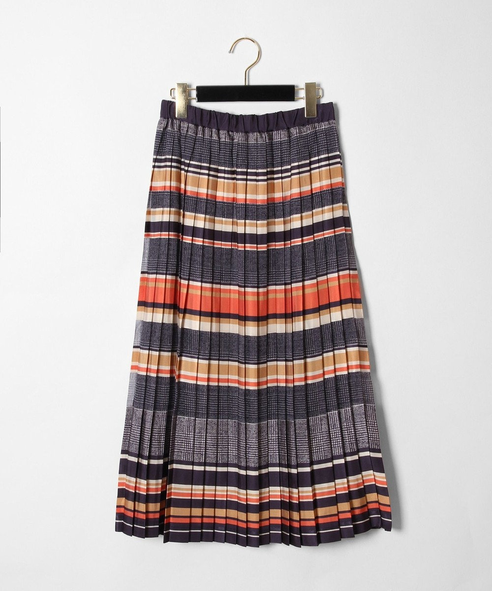 GRACE CONTINENTAL オパールプリーツスカート ネイビー