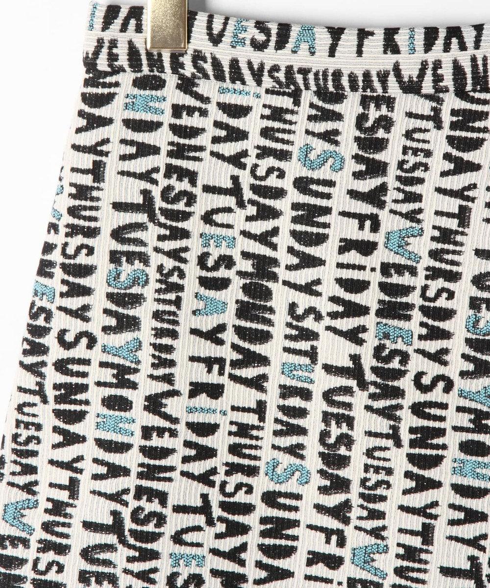 GRACE CONTINENTAL レタリングジャガードラップスカート キナリ