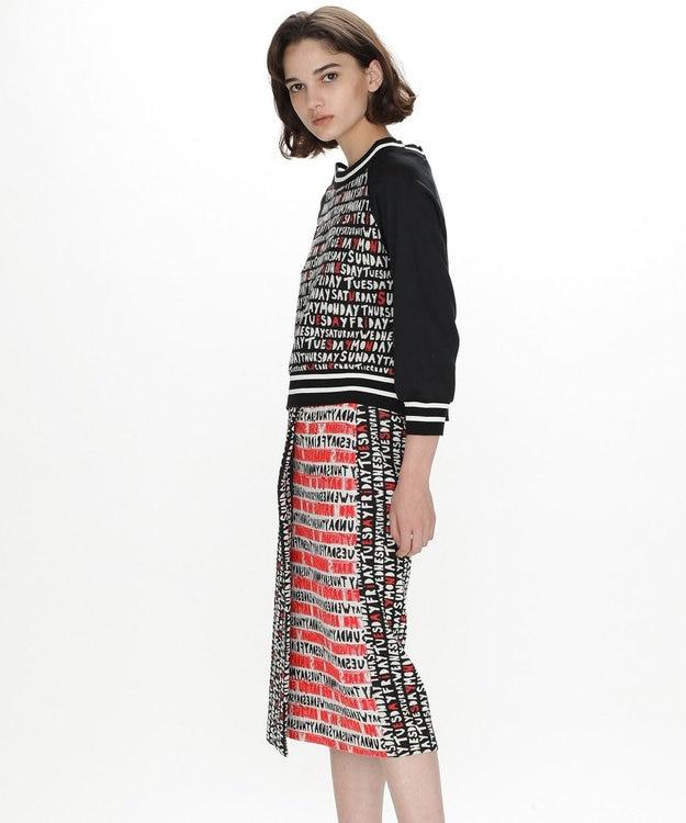 GRACE CONTINENTAL レタリングジャガードラップスカート