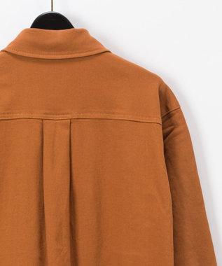 GRACE CONTINENTAL デニムロングシャツ キャメル