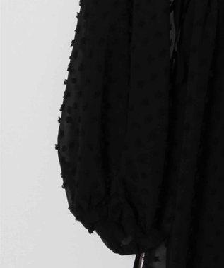 GRACE CONTINENTAL ジョーゼットチュニック ブラック