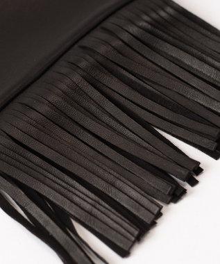 GRACE CONTINENTAL LIVIANA CONTI フリンジグローブ ブラック