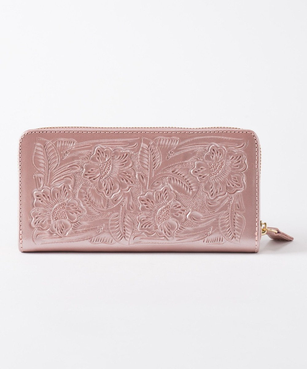 GRACE CONTINENTAL Zipped Wallet ピンクゴールド