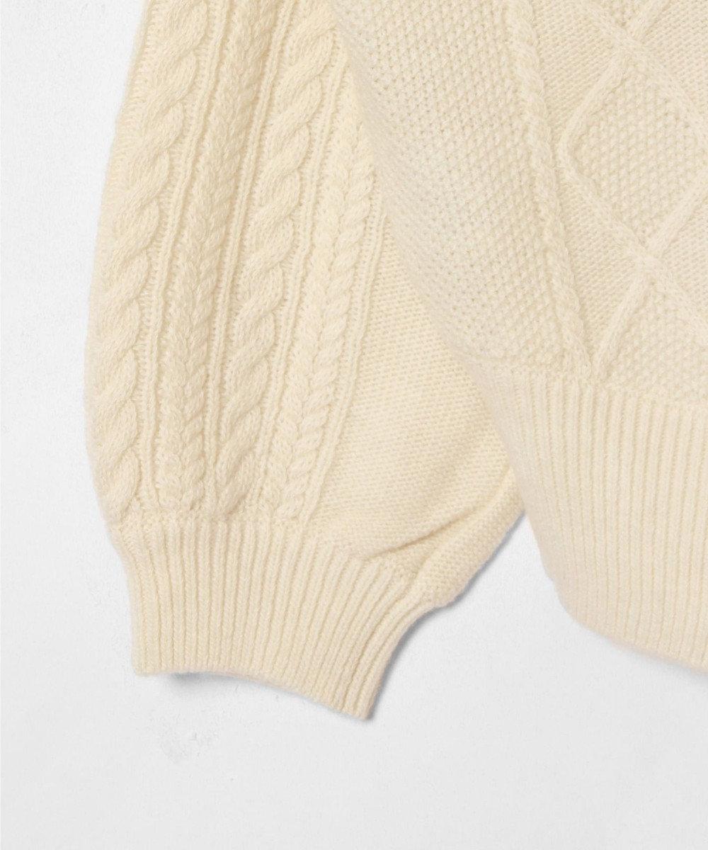 GRACE CONTINENTAL 刺繍ケーブルニットトップ ホワイト