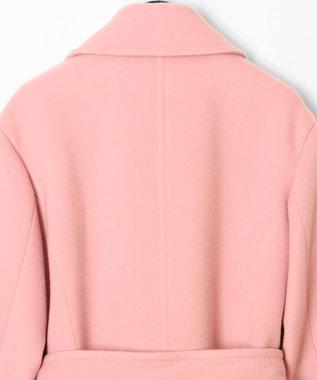 GRACE CONTINENTAL ファー付ウールガウンコート ピンク