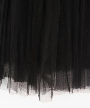 GRACE CONTINENTAL プリーツコンビチュールスカート ブラック