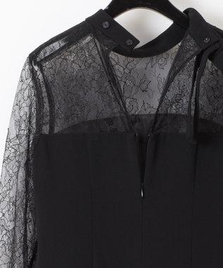 GRACE CONTINENTAL レース切替ドレス ブラック