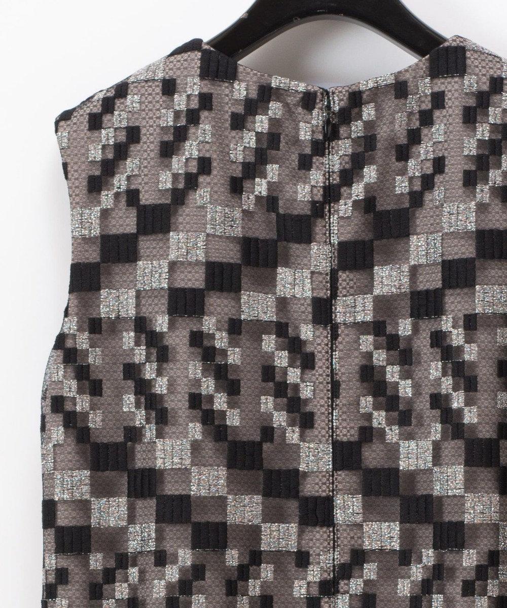 GRACE CONTINENTAL ヘムファーキカ刺繍ワンピース ブラック