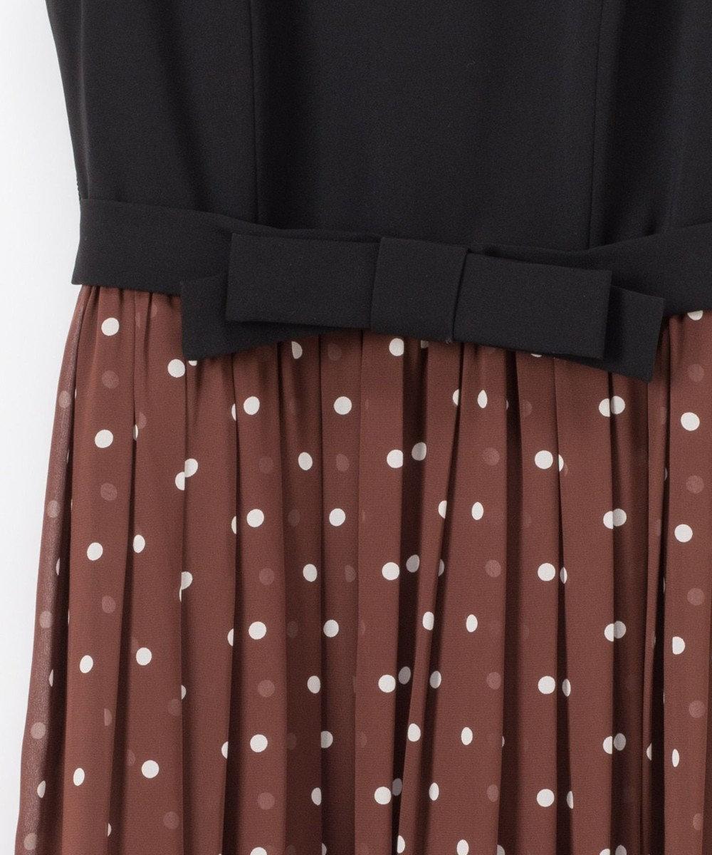 GRACE CONTINENTAL ドット配色ロングドレス ブラウン