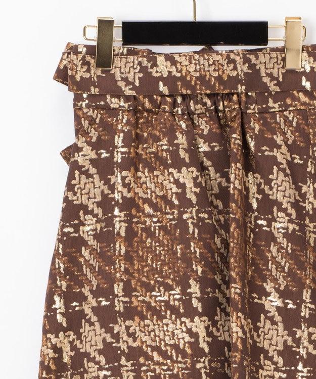 GRACE CONTINENTAL ラメチェックジャガードフレアスカート
