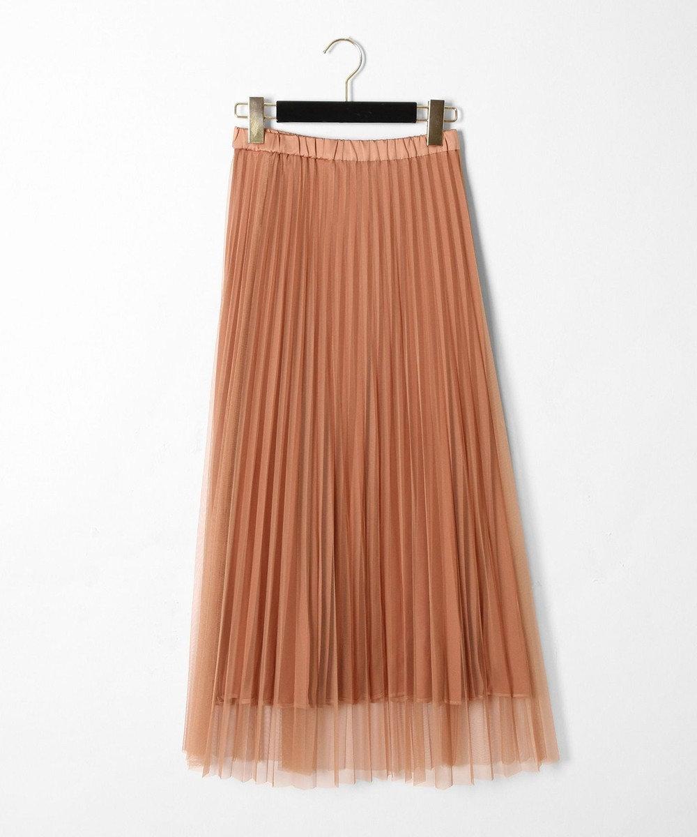 GRACE CONTINENTAL リバーシブルプリーツスカート キャメル