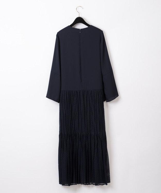 GRACE CONTINENTAL レースチュールプリーツドレス