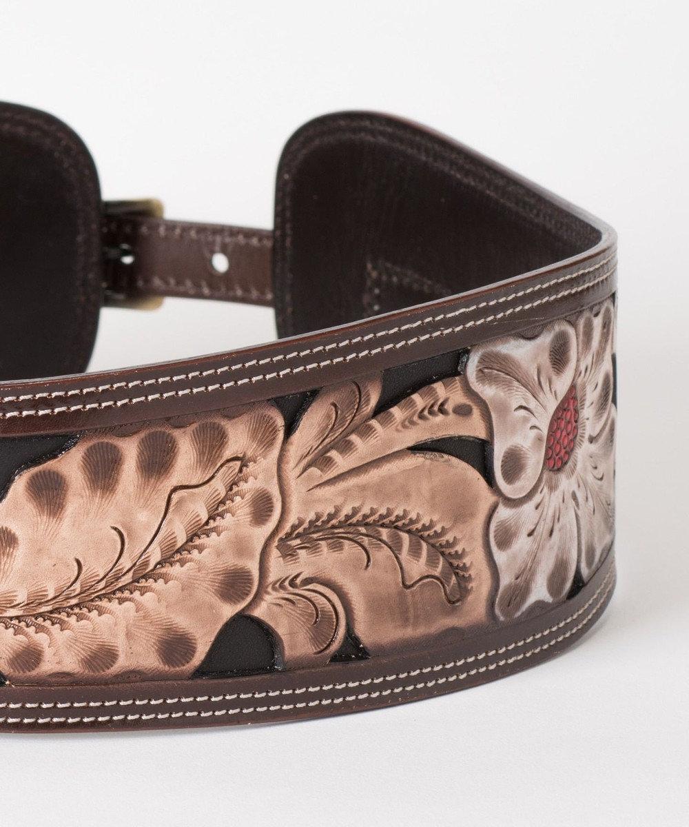 GRACE CONTINENTAL Carving Belt ブラウン