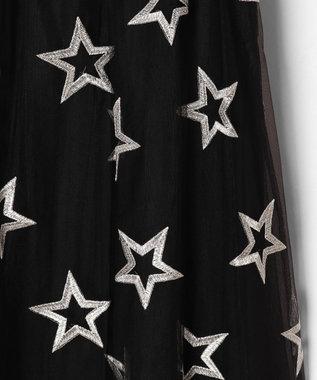 GRACE CONTINENTAL スター刺繍チュールスカート ブラック