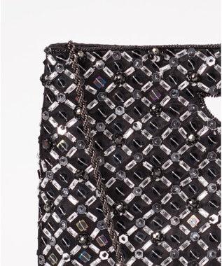 GRACE CONTINENTAL レイヤースパン刺繍バッグ ブラック