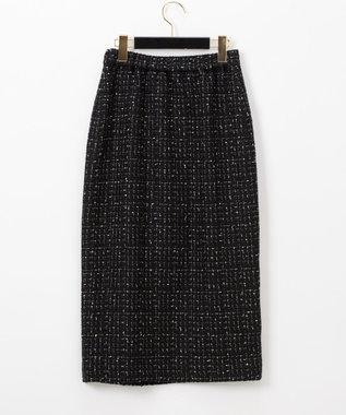 GRACE CONTINENTAL ツイードタイトスカート ブラック