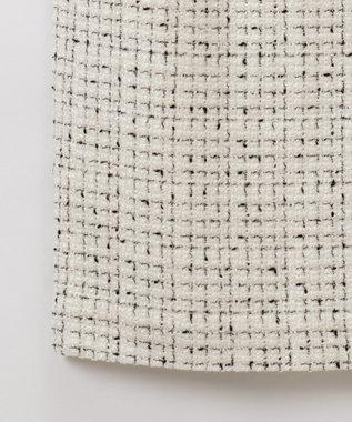 GRACE CONTINENTAL ツイードタイトスカート ホワイト