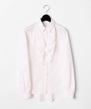 GRACE CONTINENTAL フリルドレスシャツ ホワイト