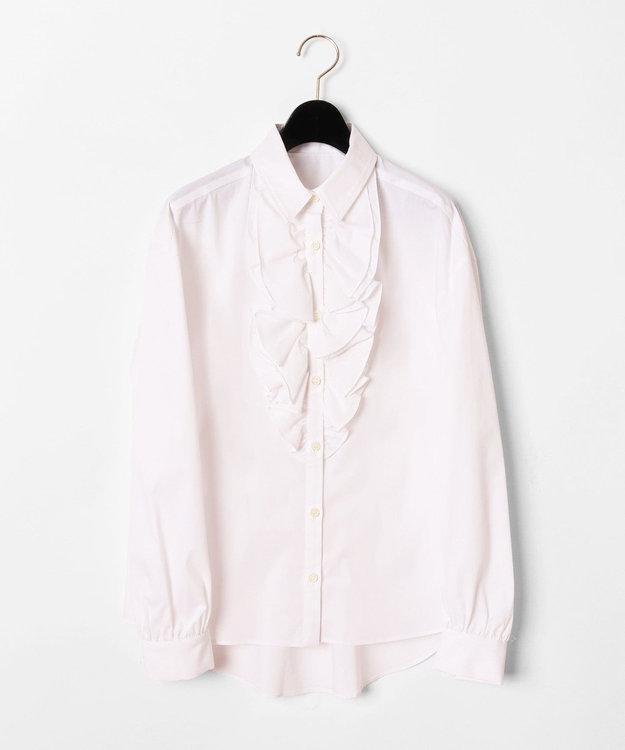 GRACE CONTINENTAL フリルドレスシャツ