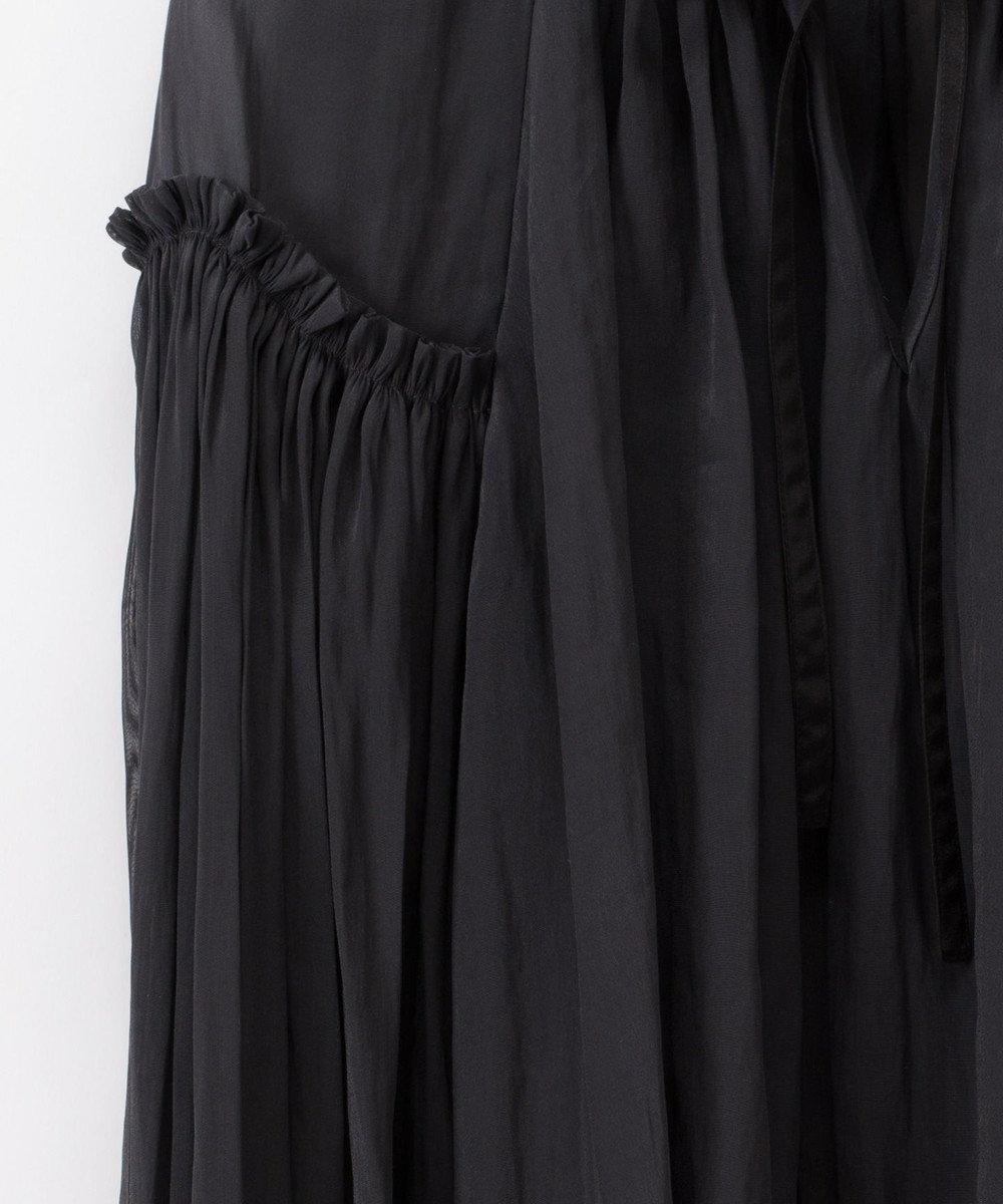 GRACE CONTINENTAL トリアセギャザートップ ブラック