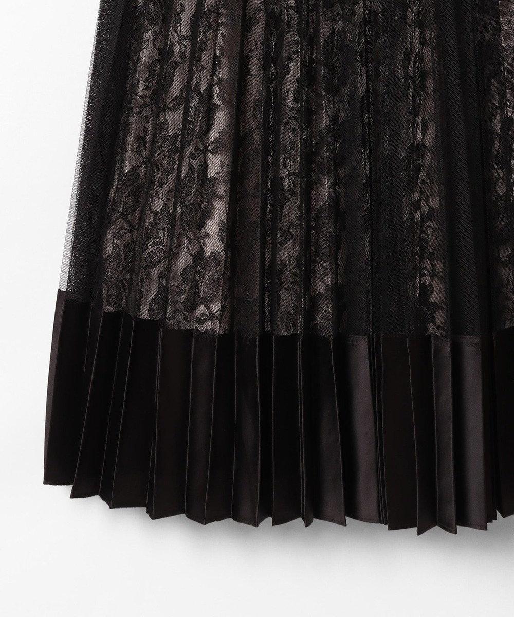 GRACE CONTINENTAL シャーリングレースワンピース ブラック