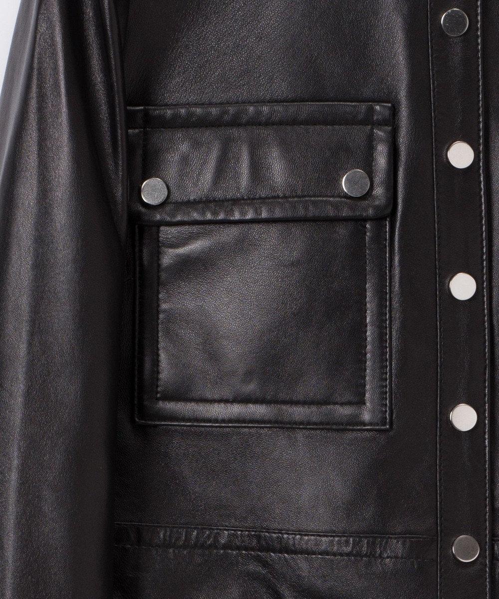 GRACE CONTINENTAL ノーカラーメタルジャケット ブラック