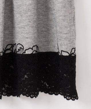 GRACE CONTINENTAL モール刺繍チュニックワンピース グレー