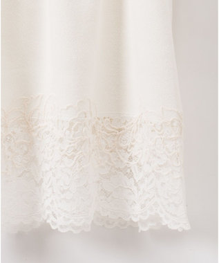 GRACE CONTINENTAL モール刺繍チュニックワンピース ホワイト