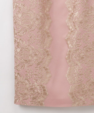 GRACE CONTINENTAL レース柄刺繍タイトワンピース2 ピンク