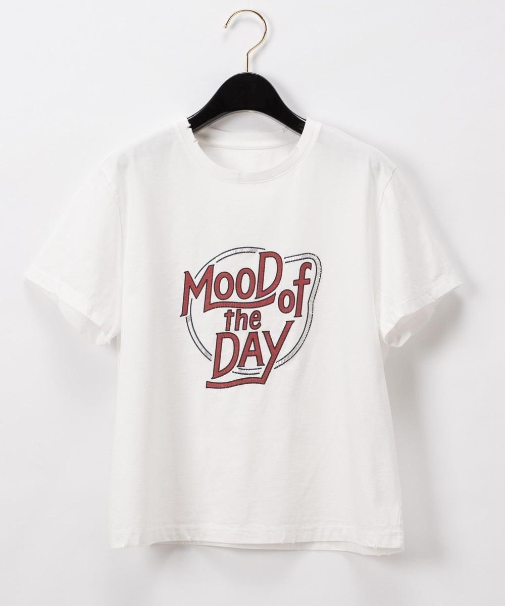 グランジ刺繍Tシャツ