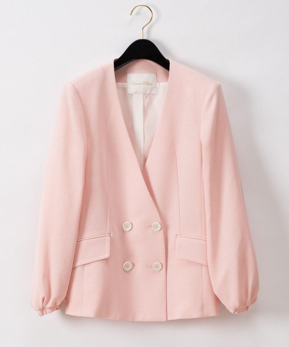 GRACE CONTINENTAL トリアセバルーンスリーブジャケット ピンク