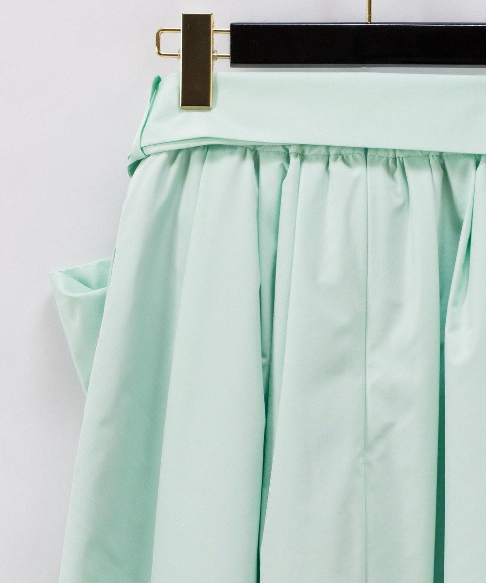GRACE CONTINENTAL リボンタックロングスカート ミント