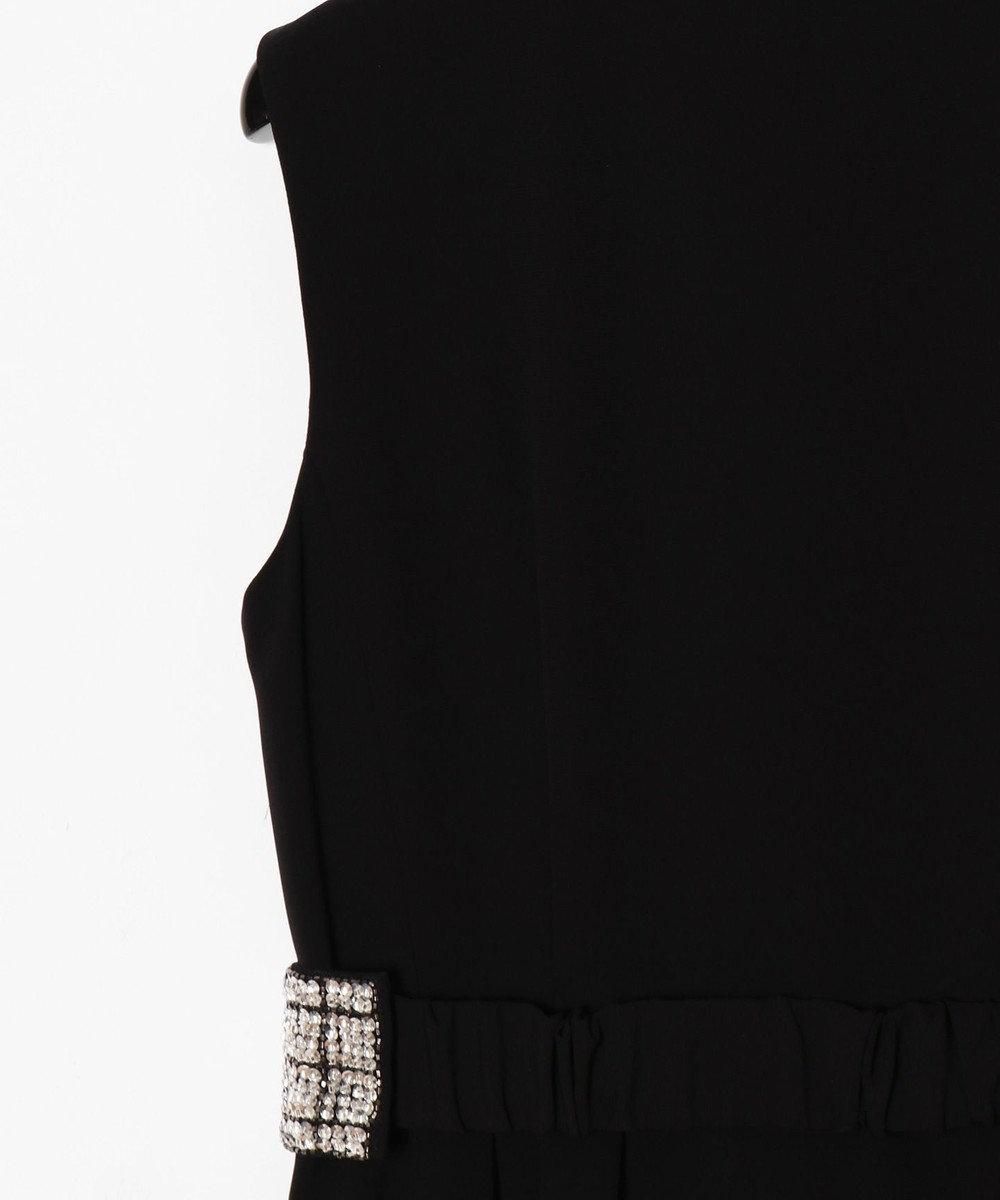 GRACE CONTINENTAL ビジューベルト付ワンピース ブラック