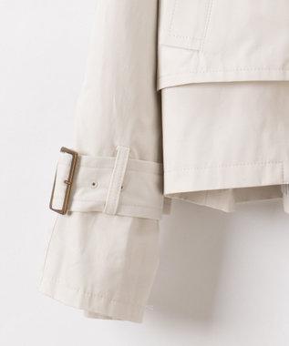 GRACE CONTINENTAL ショートトレンチジャケット ホワイト