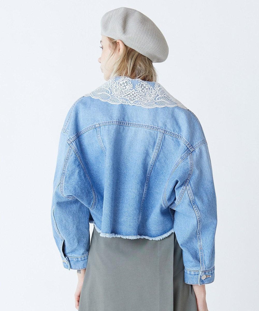 GRACE CONTINENTAL 刺繍衿デニムジャケット インディゴ