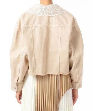 GRACE CONTINENTAL 刺繍衿デニムジャケット ベージュ