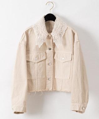 刺繍衿デニムジャケット