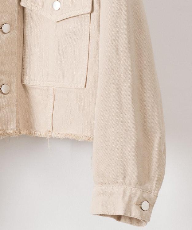 GRACE CONTINENTAL 刺繍衿デニムジャケット