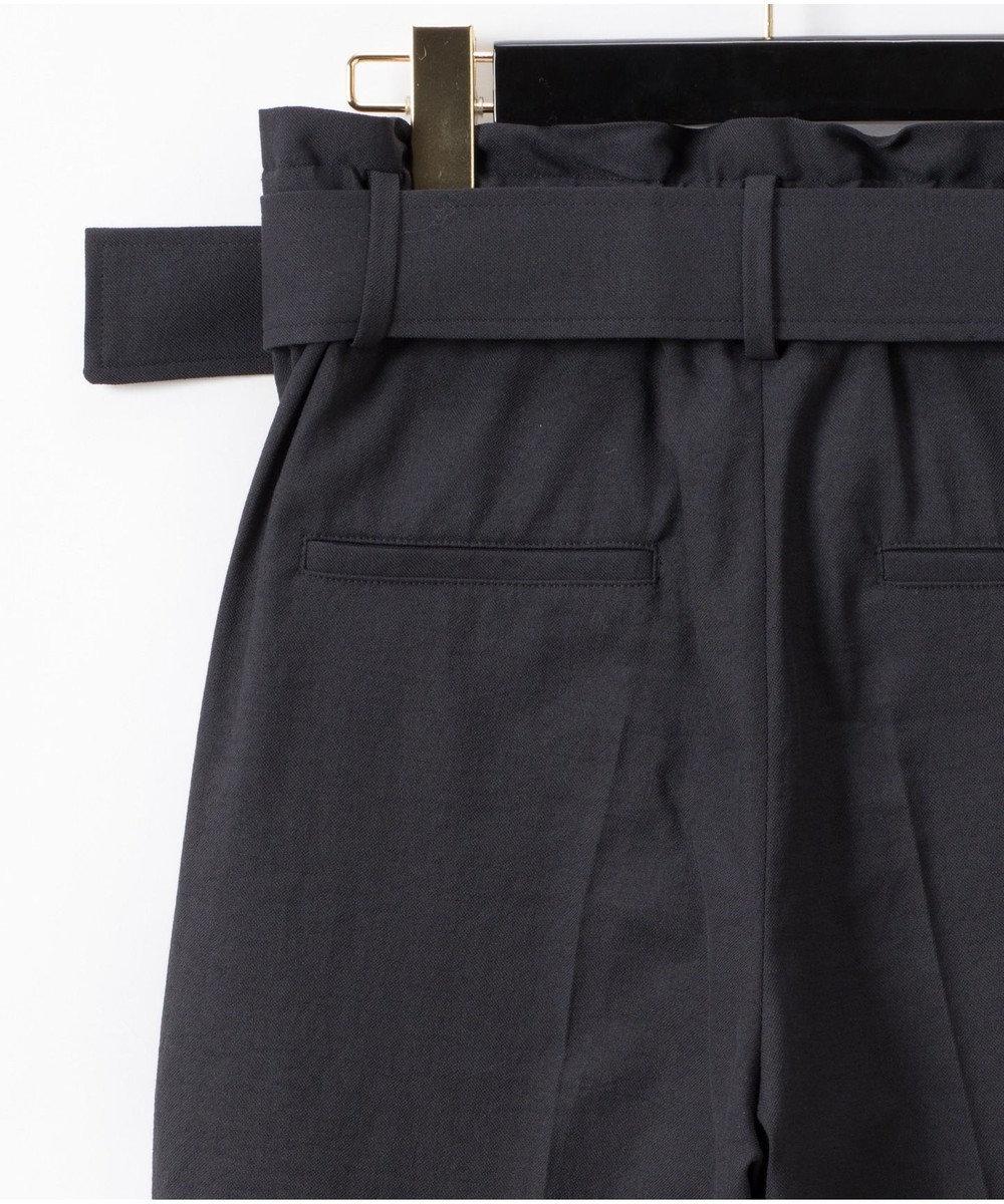 GRACE CONTINENTAL ベルト付テーパードパンツ ブラック