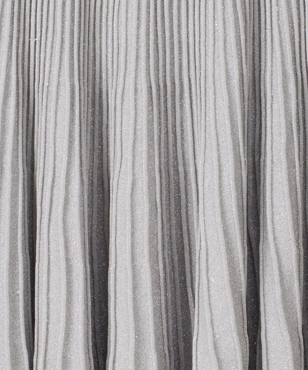GRACE CONTINENTAL ラメシアーニットスカート シルバー