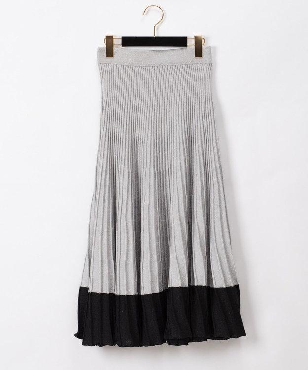 GRACE CONTINENTAL ラメシアーニットスカート