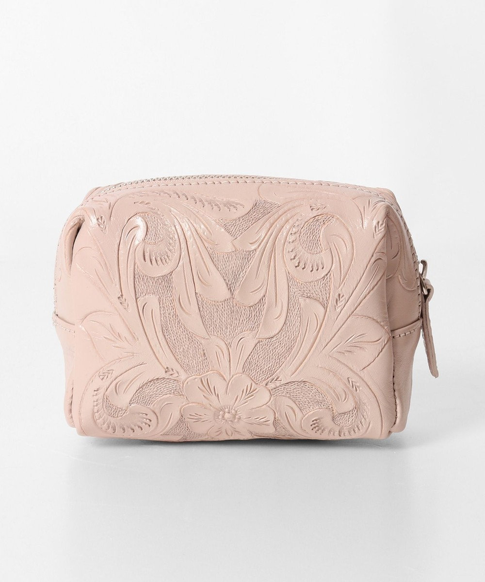 GRACE CONTINENTAL Square Pouch-20SS ピンクベージュ