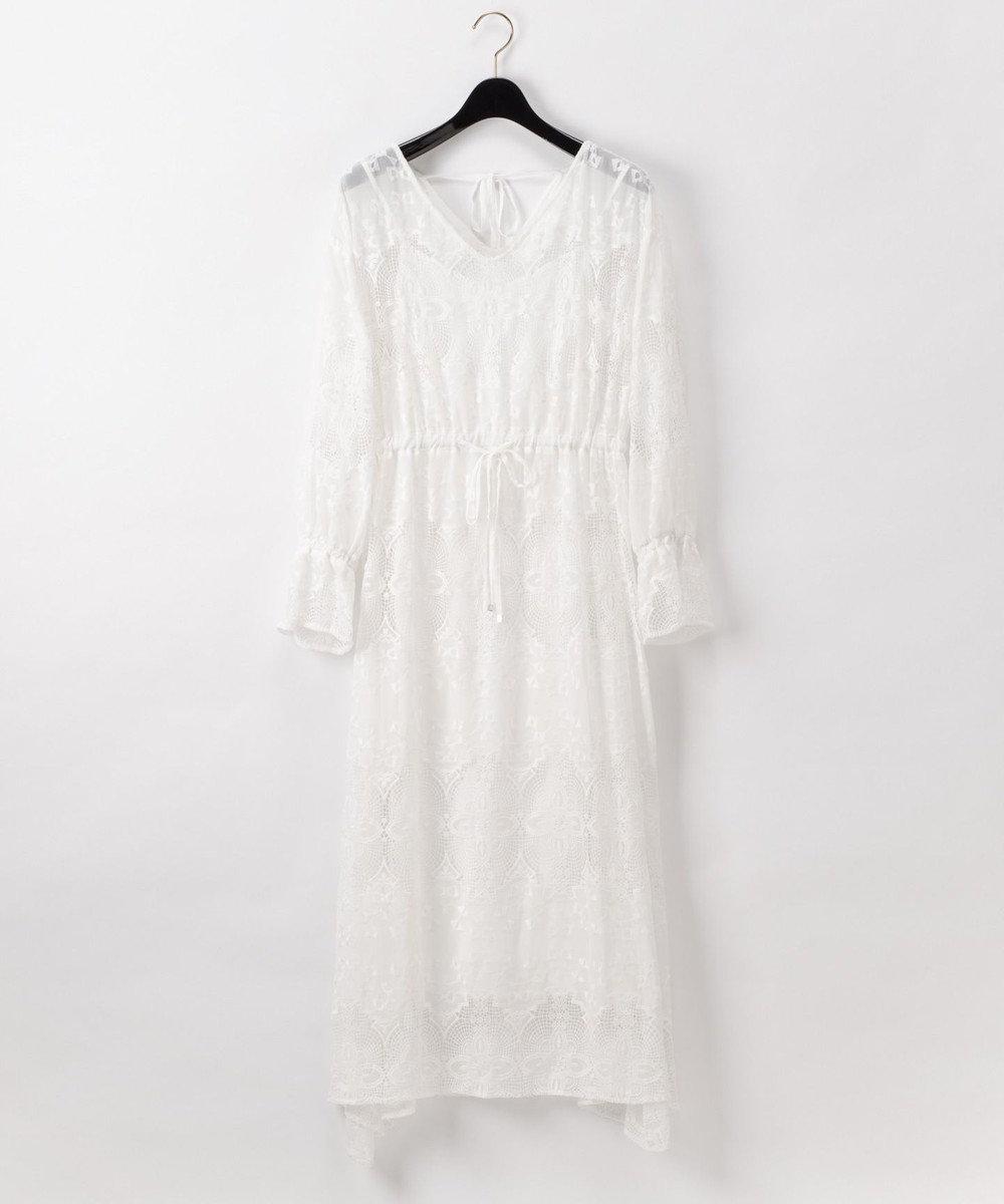 GRACE CONTINENTAL 刺繍レースワンピース ホワイト