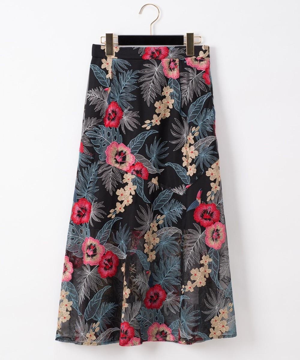 ボタニカルバード刺繍スカート